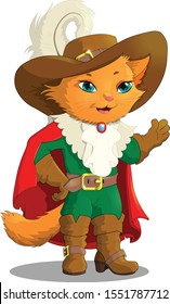 Fairytale character Cat in boots