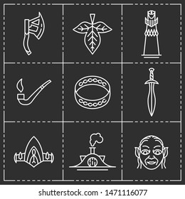 Fairytale and fantasy items. Set of icons.