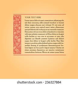 Fairy-tale flower frame. Retro, vintage, gothic style. Vintage frame with flowers , vector retro background. Flourish heraldry elements. Ornamental frame.