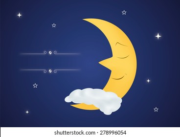 Fairytale sleeping moon