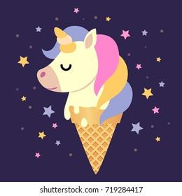 Fairytale unicorn ice cream