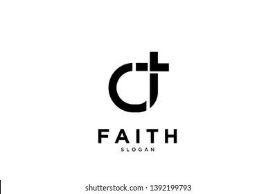 Faith circle logo icon designs vector illustration