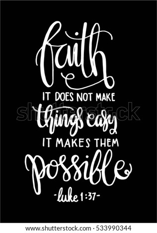 faith does not make things easy stock vector royalty free