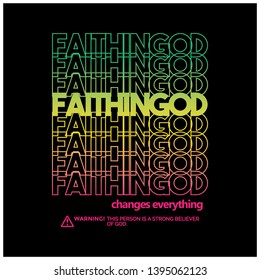 faith in god typography design