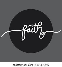 Faith handlettering typography