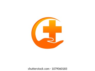 Faith hands logo vector