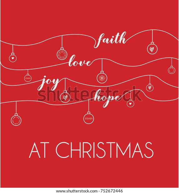 Hope At Christmas.Faith Love Joy Hope Christmas On Stock Vector Royalty Free