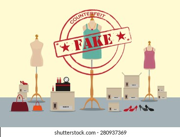Fake Items for Women with Counterfeit Stamp