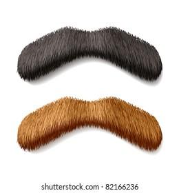 Fake mustaches. Vector.