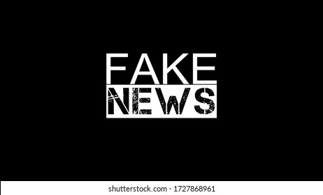 Fake News banner isolated on white background. Vector