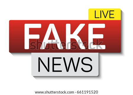 fake news banner shadow isolated on stock vector royalty free