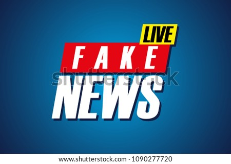 fake news live background template tv stock vector royalty free