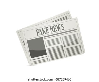 fake news newspaper illustration design icon isolated over white