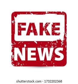 Fake News Rubber Stamp. Eps10 vector illustration.