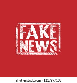 Fake News  Rubber Stamp.grunge rubber stamp
