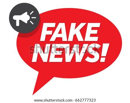 Fake news speech bubble