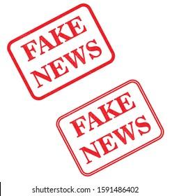 Fake news stamp - vector