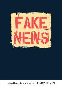 Fake News text. Hybrid warfare, alternative facts, fake news and media manipulation, propaganda. Vector illustration.