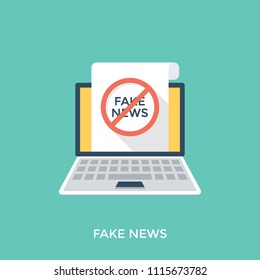 Fake news or yellow journalism flat icon
