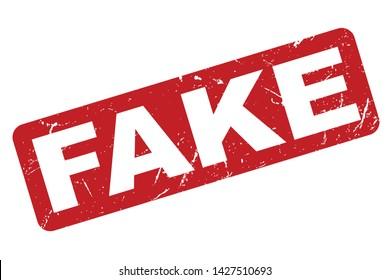 Fake Rubber Stamp. Fake Rubber Grunge Stamp Seal Vector Illustration - Vector