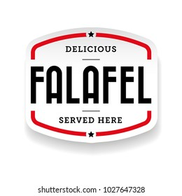 Falafel arabic cuisine label vector