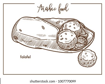 Falafel with pita bread from traditional Arabic food