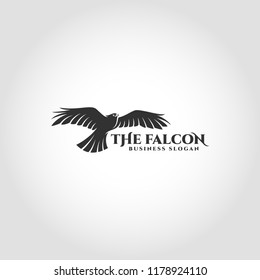 The Falcon is a bird logo with flying falcon concept