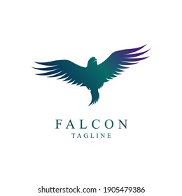falcon bird logo flying Has many great interpretations, ranging from some kind of inspiration, destiny, fortune or change of fate design vector