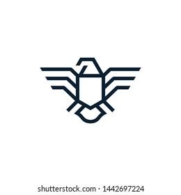 falcon eagle logo. vector icon. line outline illustration design