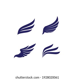 Falcon, eagle Logo and wings Template vector illustration design icon