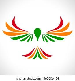 falcon logo. bird symbol.