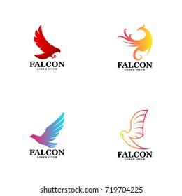 falcon logo vector art