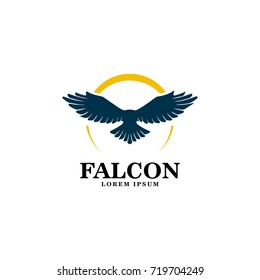 falcon logo vector art