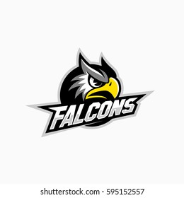 Falcon mascot for a sport team. Vector illustration.