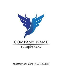 Falcon Wings Logo Template vector icon logo design