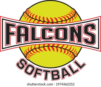 Falcons Softball Graphic is a sports design which includes a softball and text and is perfect for your school or team. Great for Falcons t-shirts, mugs and other products.