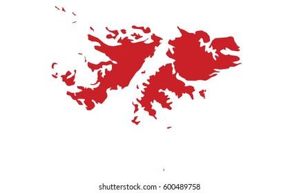 Falkland Islands map red color