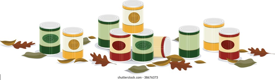 fall canned good banner