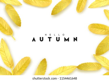 Fall Foliage. Autumn background with golden leaves