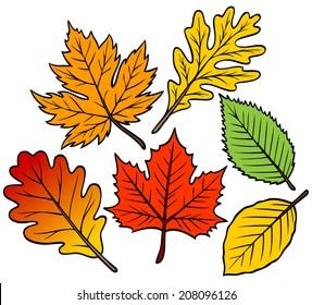 cartoon leaves images stock photos vectors shutterstock rh shutterstock com cartoon leaves texture cartoon leaves tree