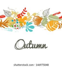 Fall leaf seamless pattern