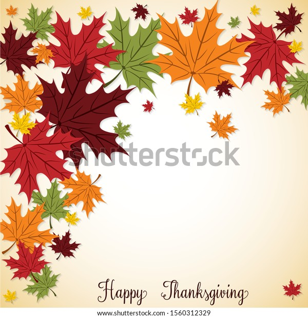 Fall Leaf Thanksgiving card in vector format.