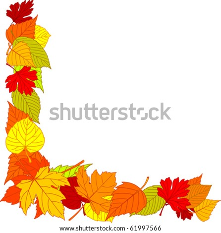fall leaves page corner borders stock vector royalty free 61997566