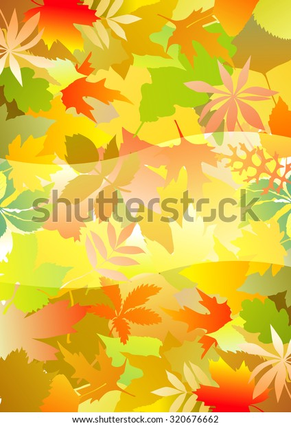 Fall Leaves Wallpaper Stock Vector Royalty Free 320676662