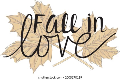 Fall in Love Leaf Vector Set