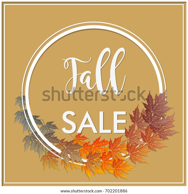 fall sale seasonal banner. with green to brown leaves