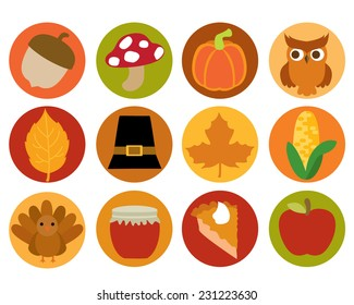 Fall and Thanksgiving Icons