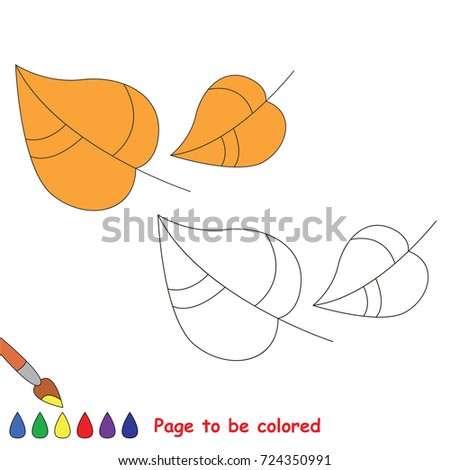 Falling Autumn Leaves Be Colored Coloring Stock Vector Royalty Free