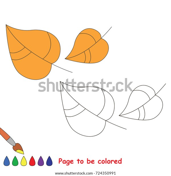 Falling Autumn Leaves Be Colored Coloring Stock Vector Royalty Free 724350991