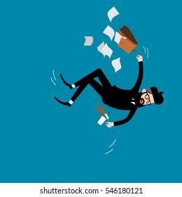 Falling businessman vector.
